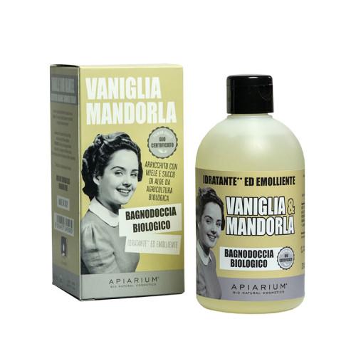 bagnodoccia biologico vaniglia e mandorla
